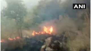 Fire Breaks Out at Ghaziabad Pipe Factory Near Kaushambi Metro Station, One Injured