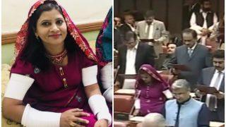 पाकिस्तान की पहली महिला दलित हिन्दू सांसद कृष्णा कुमारी ने ट्रेडिशनल ड्रेस में ली शपथ