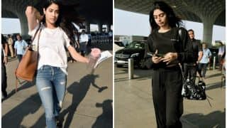 Janhvi Kapoor And Sister Khushi Leave For Chennai To Attend Sridevi's Prayer Meet