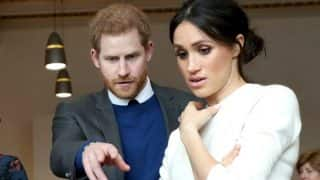 Prince Harry And Meghan Markle's  Expression After Looking At A Prosthetic Foot During Their Recent Visit To Northern Ireland Is Going Viral