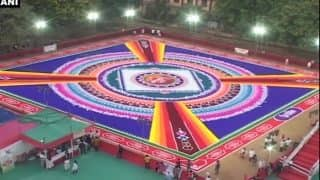 Video: गुड़ी पड़वा पर शांति का संदेश देने के लिए ठाणे में 70 कलाकारों ने बनाई रंगोली