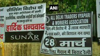दिल्ली में सीलिंग के खिलाफ व्यापारियों ने किया बंद