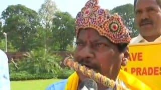 TDP MP Dresses up as Lord Krishna in Parliament, Demands Special Status For Andhra Pradesh