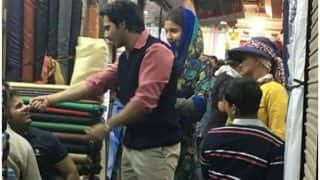Sui Dhaga New Still: Anushka Sharma, Varun Dhawan Go Looking For Desi Fabric In Delhi - See Pic