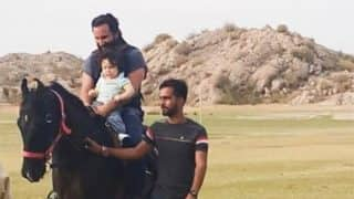 Taimur Ali Khan Taking Horse Riding Lessons From Daddy Saif Ali Khan? See Pic