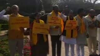 TDP, YSR Congress Leaders Protest Against Centre, Demand Special Status For Andhra Pradesh