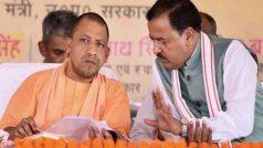केशव प्रसाद मौर्य के घर पहुंचे सीएम योगी, RSS नेता और दिनेश शर्मा भी मौजूद