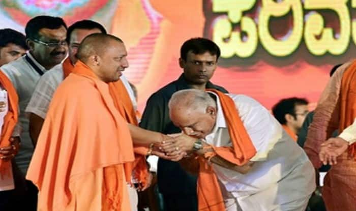 Yogi Adityanath and BS Yeddyurappa