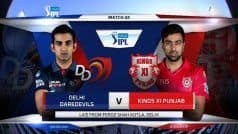 दिल्ली ने टॉस जीत पहले फील्डिंग का लिया फैसला, पंजाब की टीम से क्रिस गेल बाहर