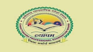 Chhattisgarh Vyavsayik Shiksha Mandal Releases Exam Schedule 2019; Check at cgvyapam.choice.gov.in