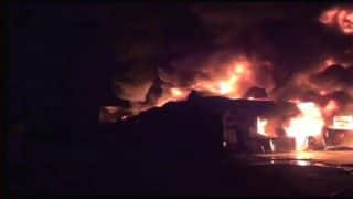 Bhiwandi: Massive Fire Breaks Out at Oil Godown at Ganesh Compound