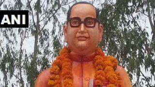 Uttar Pradesh: B R Ambedkar Statue, Painted in Saffron Colour, Installed in Badaun