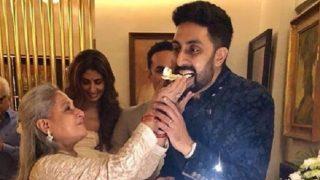 Amitabh Bachchan, Abhishek Bachchan, Shweta Bachchan Nanda Surprise Jaya Bachchan On Her 70th Birthday With A Special Birthday Party - View Pics