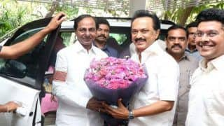 Telangana CM KC Rao Meets DMK's MK Stalin; Both Dial TMC's Mamata Banerjee to Discuss 'Third Front'