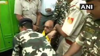 TDP MPs Protest Outside PM Narendra Modi's Residence in Delhi Demanding Special State Status For Andhra Pradesh, Detained