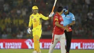 IPL 2018: Fan Touches MS Dhoni's Feet During Chennai And Rajasthan's Match
