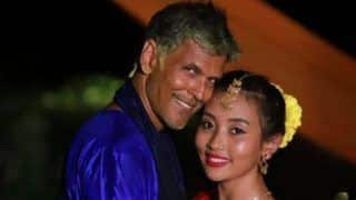 Milind Soman And Wife Ankita Konwar Show This Sweetest Gesture To Express Their Gratitude To Their Wedding Guests  - View Pics