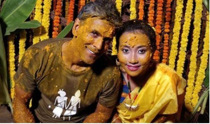 Image result for milind soman wedding