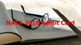 NATA 2018 Admit Card Released On The Official Website tcsionhub.in, Check Other Details