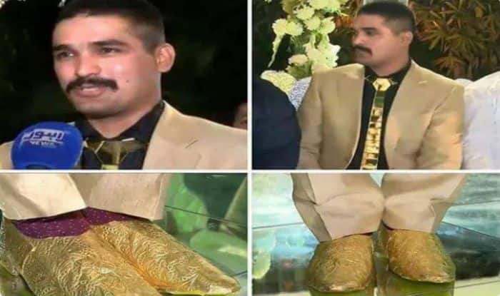 Pakistan Groom's Gold Obsession.  PC- Twitter