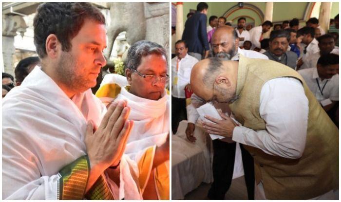 कांग्रेस अध्यक्ष राहुल गांधी और भाजपा अध्यक्ष अमित शाह पिछले दो महीनों में दर्जनों मंदिरों और मठों का दौरा कर चुके हैं.