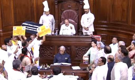 Venkaiah Naidu anguished at 'murder of democracy' in Rajya Sabha