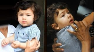 Taimur Ali Khan Holds His Perfect Pose and Smile For the Shutterbugs as He Steps Out of His Playschool (PICS)