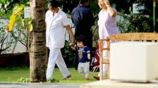 Taimur Ali Khan's Face Brightens Up Like The Summer Sun When He Sees The Pool - View Pics