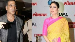 Kareena Kapoor Khan Looks Gorgeous In A Yellow And Pink Saree, Akshay Kumar Looks Dapper As They Attend An Awards' Function - View Pics