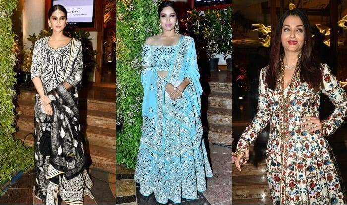 Aishwarya Rai Bachchan and Sonam Kapoor at Saudamini Mattu's reception