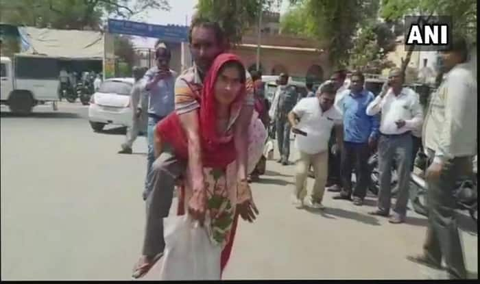 Mathura: Woman Carries Husband on Her Back to Get Disability Certificate