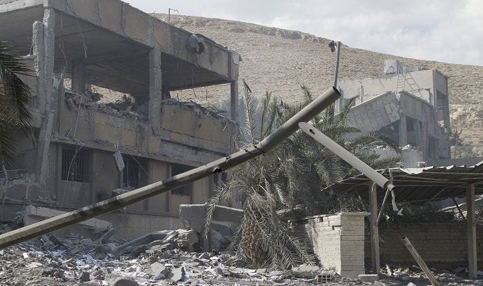 Damascus after airstrikes
