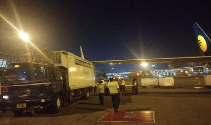 Jet Airways plane hits parked food truck at IGI airport