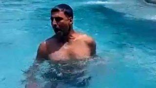 पूल के अंदर जिम करते दिखे अक्षय कुमार, कुछ घंटों में मिले लाखों व्यूज...