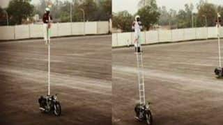 BSF's 'Janbaaz' Create World Record, Ride Motorcycle For Over 10 Hours While Standing on Pole