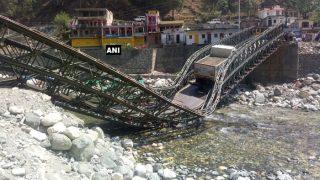 Uttarakhand: Bridge Built Over Assi Ganga River on Gangotri Highway Collapses