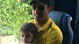 MS Dhoni Travels With Daughter Ziva in CSK Team Bus For SRH Clash