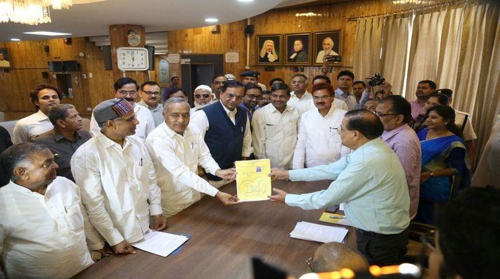 बसपा प्रत्याशी बी आर अम्बेडकर ने विधान परिषद् के लिए किया नामांकन
