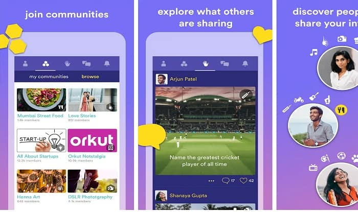 Hello, the new app by Orkut founder (screen shot from Google Play Store)