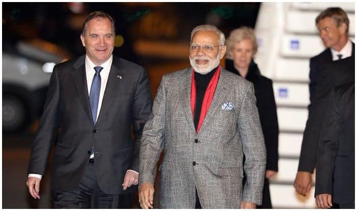 Swedish Prime Minister Stefan Löfven welcome Prime Minister narendra Modi