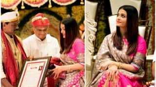 Aishwarya Rai Bachchan Honored With The Woman Of Substance Title At An Event In Pune - View Pics