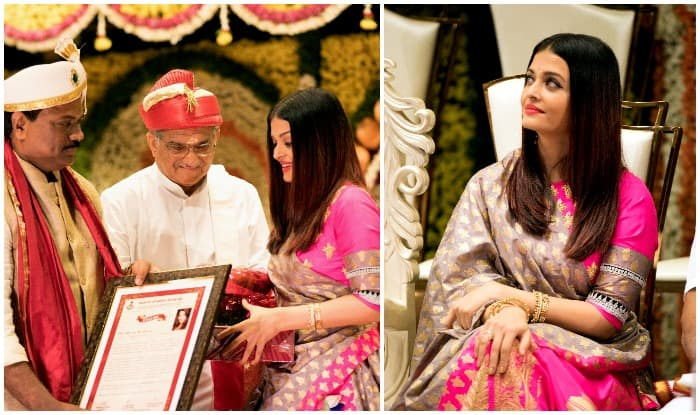 Aishwarya Rai Bachchan Looks Mesmerising In A Pink Saree At An Event In Pune
