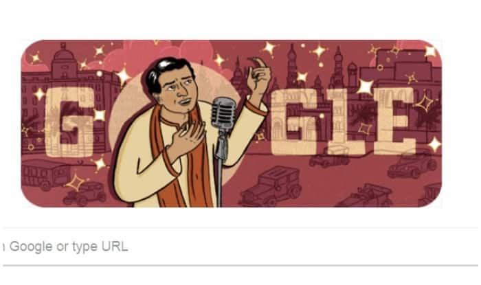 Google Doodle commemorates KL Saigal's 114th b'day