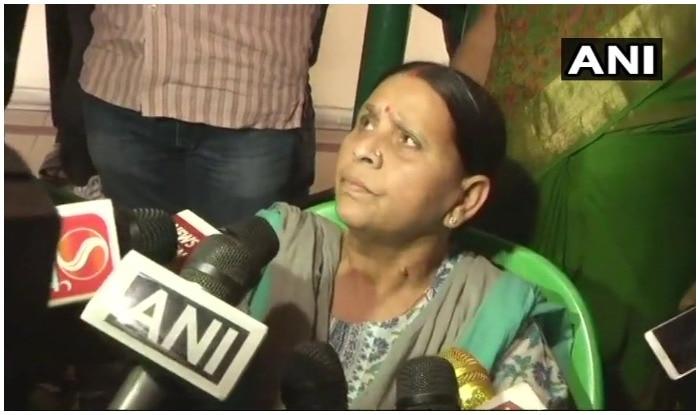 Rabri Devi addresses media