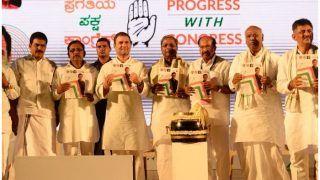 कर्नाटक चुनाव: राहुल गांधी ने जारी किया घोषणा पत्र, 5 साल में एक करोड़ नौकरियों का वादा
