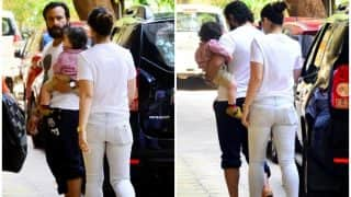 Taimur Ali Khan Accompanies Mom Kareena Kapoor Khan And Dad Saif Ali Khan On A Day Out - See Pics