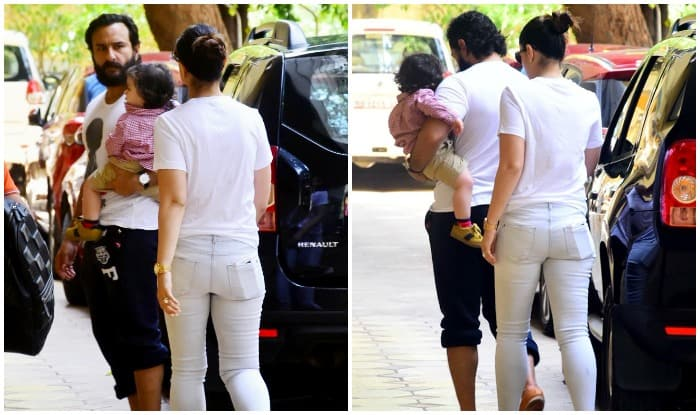 Taimur Ali Khan Accompanies Mom Kareena Kapoor Khan And Dad Saif Ali Khan On A Day Out - See Pics
