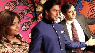 Shah Rukh Khan Strikes His Signature Pose At Madame Tussauds Delhi