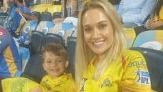 Shane Watson's Wife, Kid in All Smiles After His Third IPL Century
