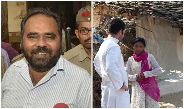 शीलू के साथ रेप करने वाला विधायक रने पुरुषोत्तम जेल में हैं. राहुल गांधी के साथ शीलू. (फाइल फोटो)